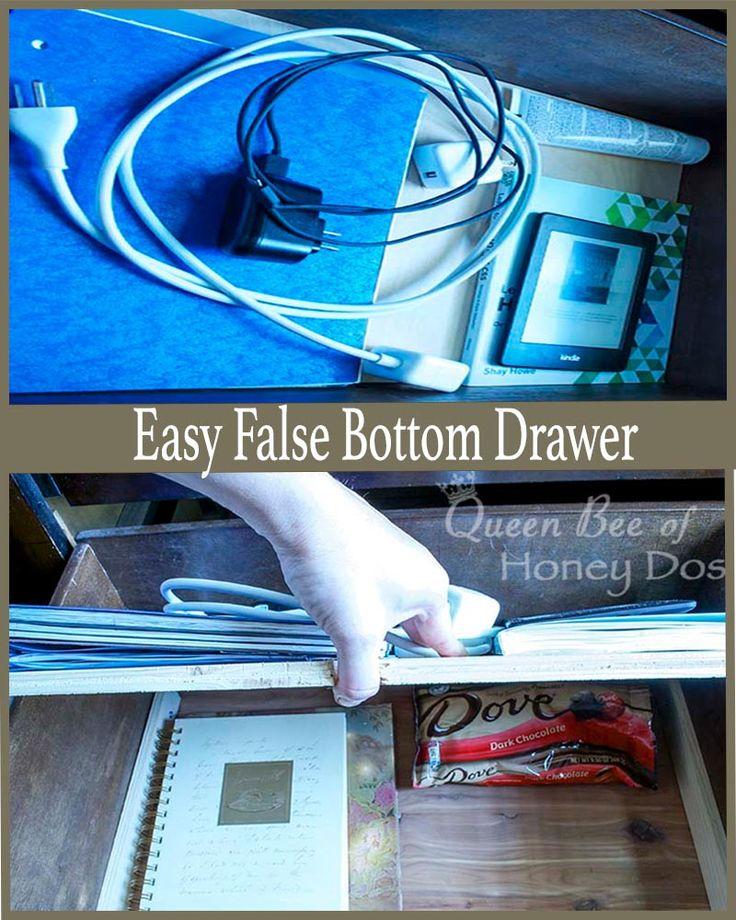 False Bottom Drawer
