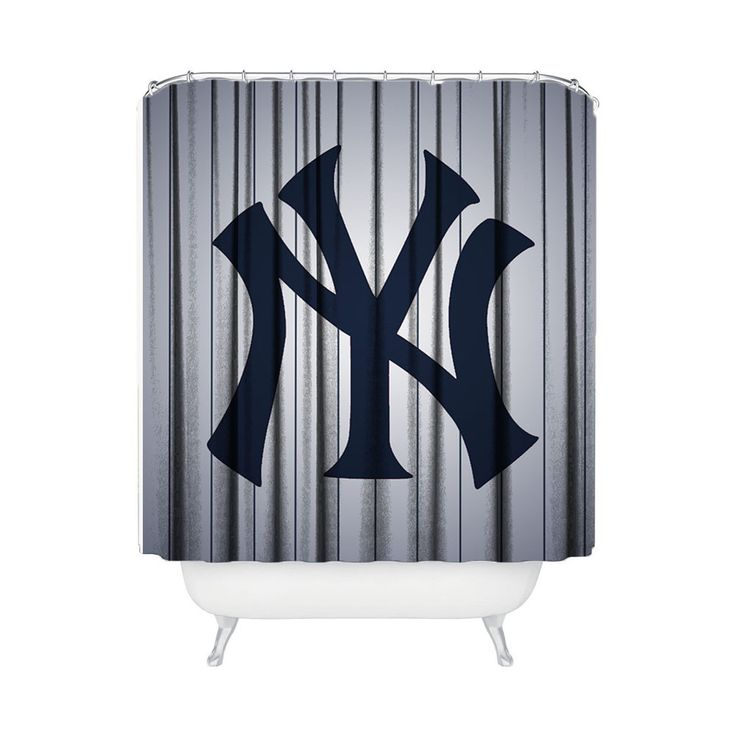 135 best pin up girl artwork shower curtain images on for Yankees bathroom decor