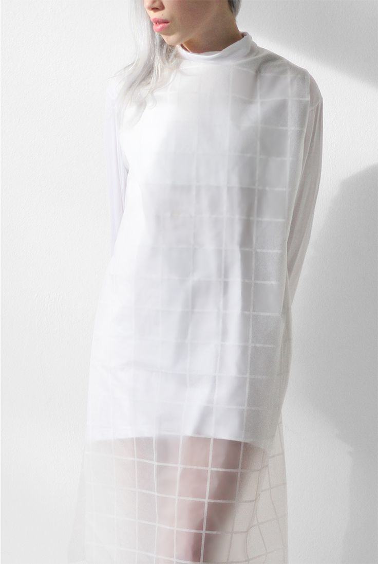 / LOVE AESTHETICS / DIY clear gridded dress / IKEAhack