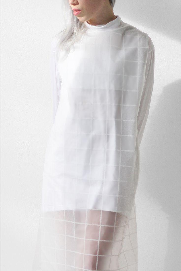 / LOVE AESTHETICS / DIY clear gridded dress / IKEAhack