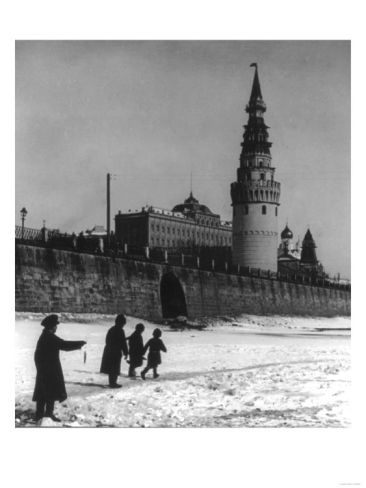 Moscow River and Kremlin in Winter Photograph - Moscow, Russia Print at Art.com