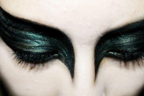black swan makeup, i did this on a client for a party not too long ago