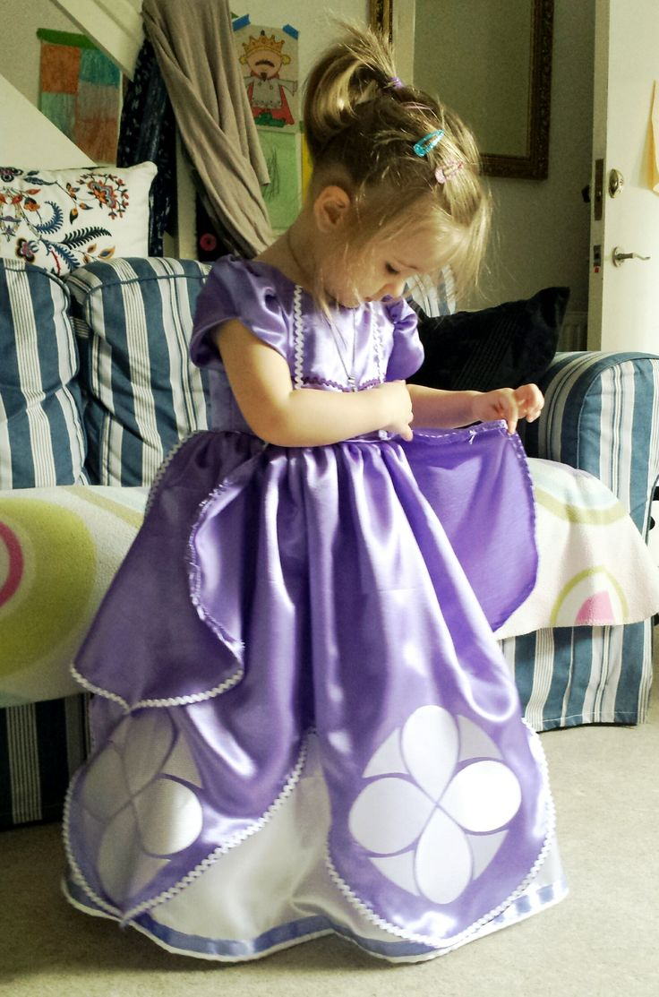 My princess checking out her dress