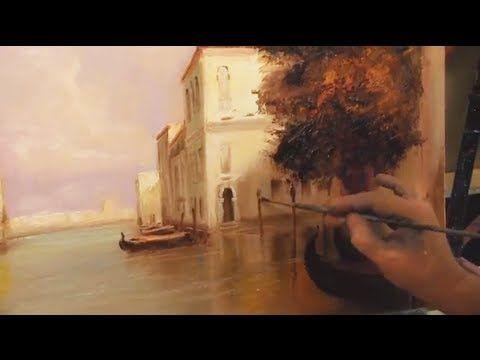"Картина ""Венеция"" Урок по живописи Игоря Сахарова - YouTube"