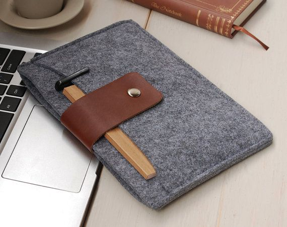 Felt iPadmini case ,  iPad mini cover , iPadmini Sleeve , Handmade - with Pocket-311 on Etsy, $19.00