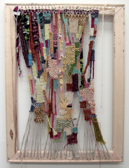 Great idea! Shall have to build a simple tapestry loom like this for myself sometime!