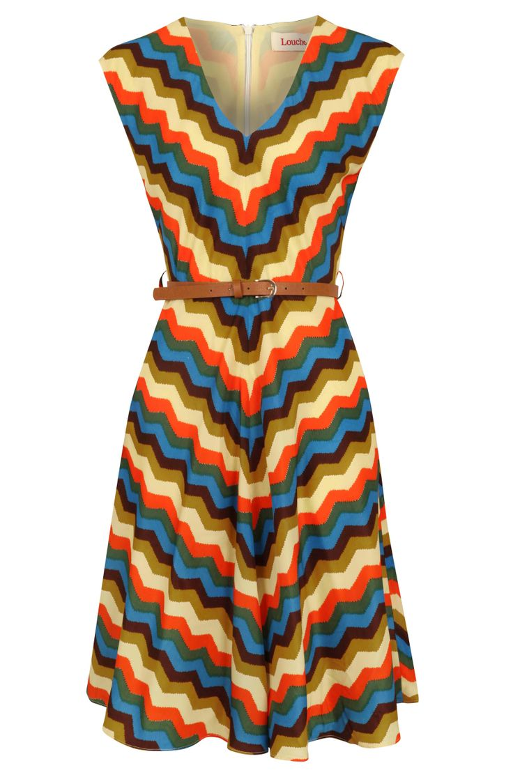 Louche Duchess Zig Zag Dress