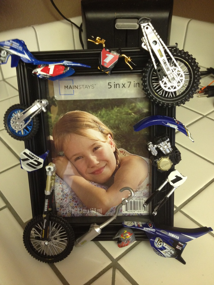 Broken Dirt Bikes Make A Frame From The Toys For Boys Bedroom