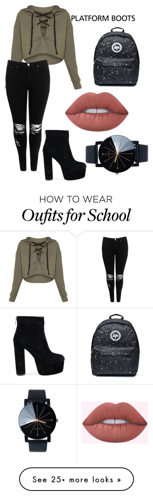 """Black Boots"" by jessicafabu on Polyvore featuring Boohoo"
