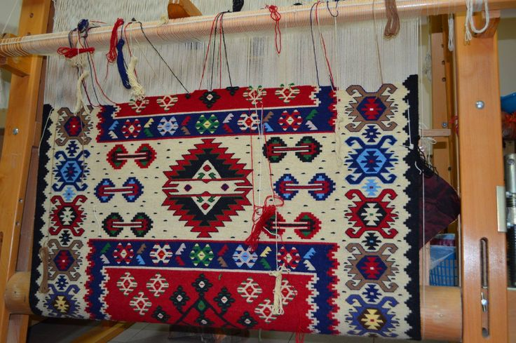 Кондићева шара. Kondic pattern. Pirotski ćilim. Pirot kilim is a unique, authentic and highly regarded brand of flat tapestry-woven carpets or rugs, made of pure sheep's wool from Stara Planina, southeastern Serbia, dyed with natural colours and long enduring. It is made as a single piece, has 28 weave lines in 1cm and both sides of the rug can be used. Its colors, patterns and ornaments are unique: 96 of them are geographically protected. Pirot kilim is made exclusively in Pirot, Serbia.
