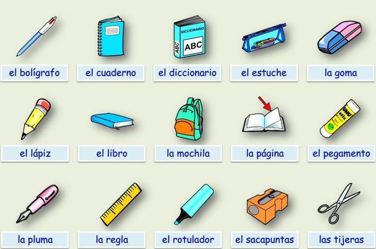 El cole, el material escolar, en clase (ficha) - ¡Olé Lardy! ► http://img99.xooimage.com/files/0/e/2/material-escolar-40e72f8.swf