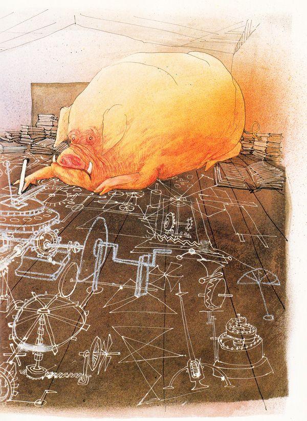 "Ralph Steadman's ""Animal Farm"" Illustrations: animalfarm_steadman13.jpg"