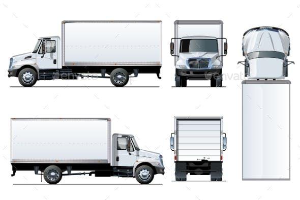 Vector Truck Template Isolated On White Trucks Truck Detailing