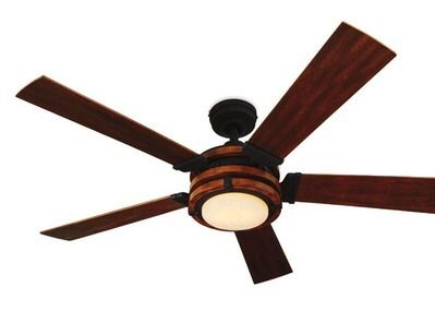 Shared from Flipp: 52-in Barrington Black Metal and Distressed Wood Ceiling Fan in the Lowe's flyer