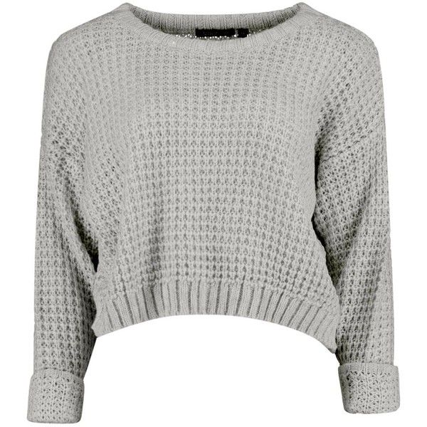 Amber Crop Jumper ❤ liked on Polyvore featuring tops, sweaters, cropped jumper, cropped sweater, jumper top, white jumper and white sweater