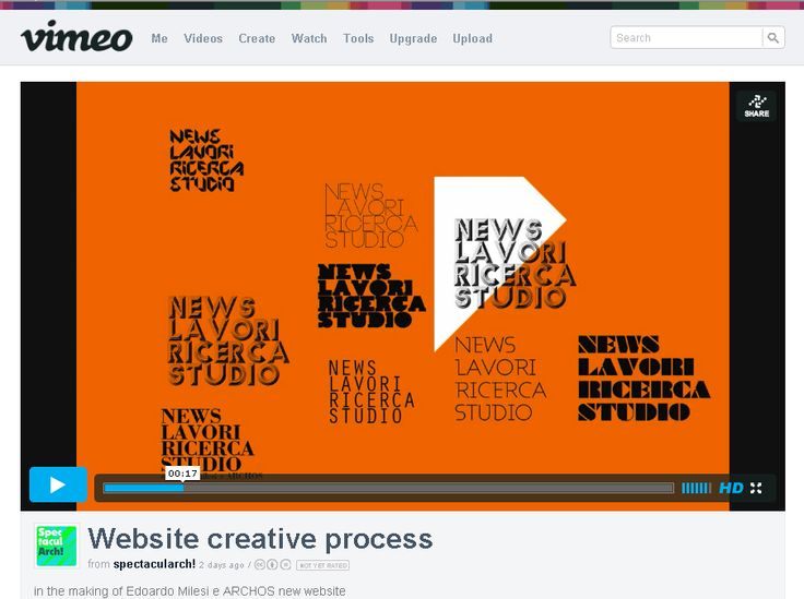 SHOWREEL of creative process behind the making of www.archos.it  website by spectacularch and studioand view video here https://vimeo.com/70630209