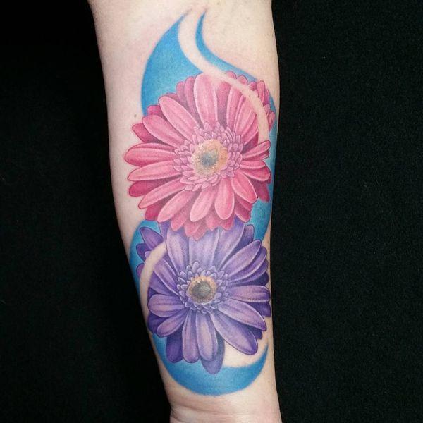 a0de3f2370863 Gerber Daisy Tattoo Mandala | 48 Unique Daisy Tattoos To Style Your Body