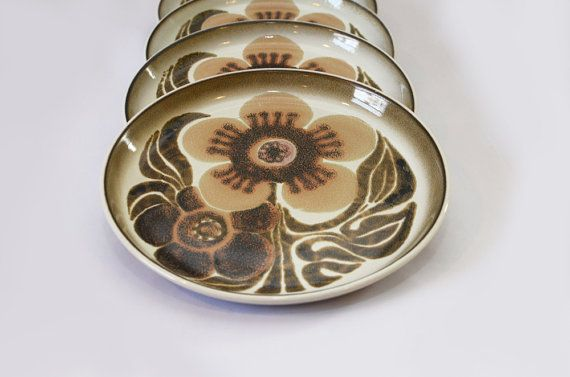 5 Vintage Westbury Denby Ware Bread and Butter Plates by vintmo, $30.00