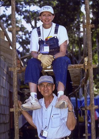 2002  Linda and Millard at Jimmy Carter Work Project in Durban, South Africa.