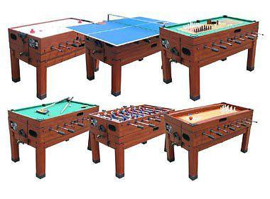 Nice 13 In 1 GAME TABLE In CHERRY ~ FOOSBALL, POOL, AIR HOCKEY, SHUFFLEBOARD ~  NEW