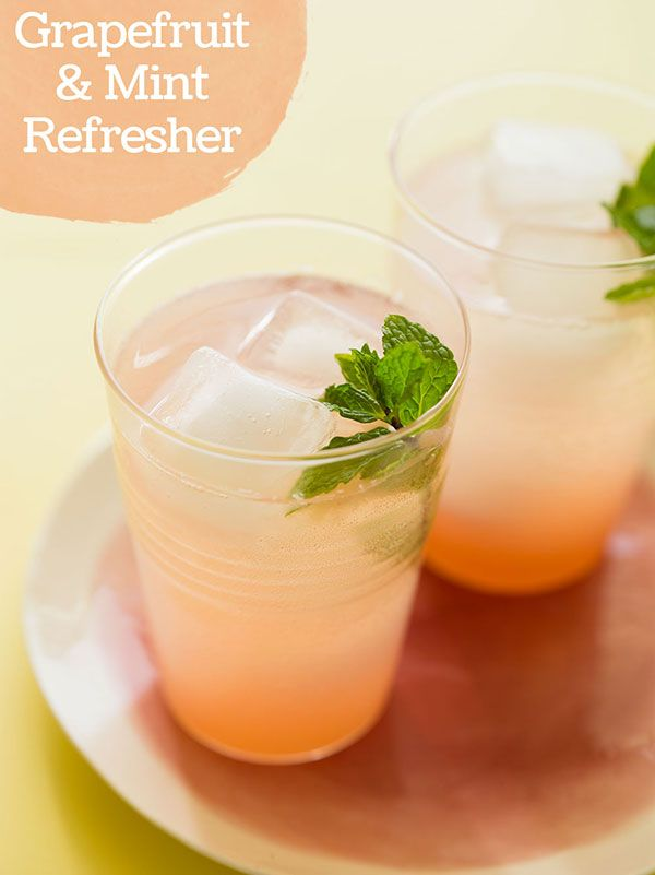 Grapefruit & Mint Refresher, Hello Spring! | via Spoon Fork Bacon