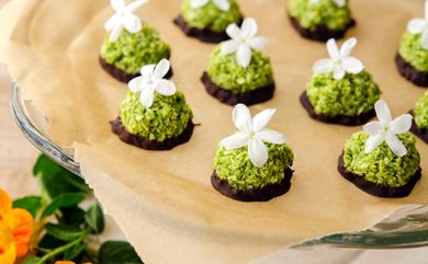 Don't be deceived by their verdant hue; these Springtime Macaroons are perfectly sweet.