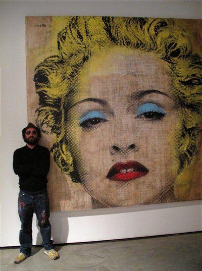 "mhverity: ""Mr. Brainwash & Madonna by Mr. Brainwash """