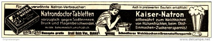 Original-Werbung/ Anzeige 1942 - NATRONDOCTOR TABLETTEN / KAISER NATRON - ca. 120 x 20  mm