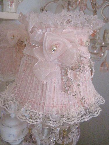 Lace & pearls Lampshade | Flickr - Photo Sharing!
