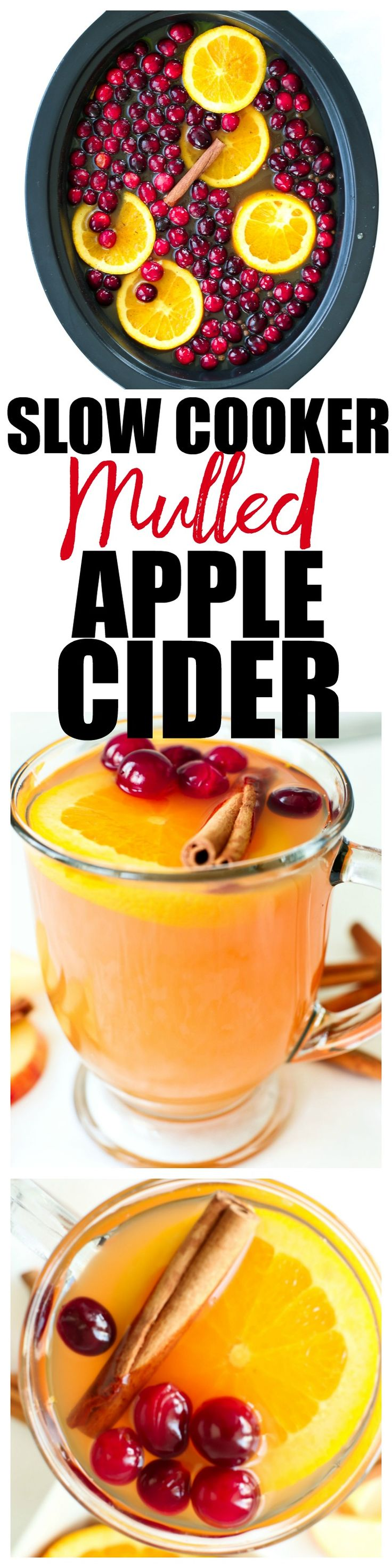 Mulled Hot Apple cider in the Crock-Pot brand slow cooker recipe! This is perfect for Thanksgiving, Christmas, or any holiday gathering! Sponsored content by Mirum Shopper.