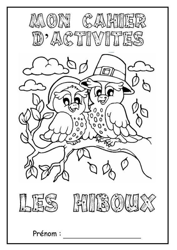 A imprimer taille réelle (format A4). En ce début de semaine, je vous propse un nouveau thème avec un joli animal : le hibou !