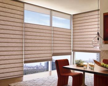 Cortinas Vignette® para Living - Cortinas romanas enrollables modernas y funcionales / Living room blinds curtains windows covering decoración ventanas salón sala