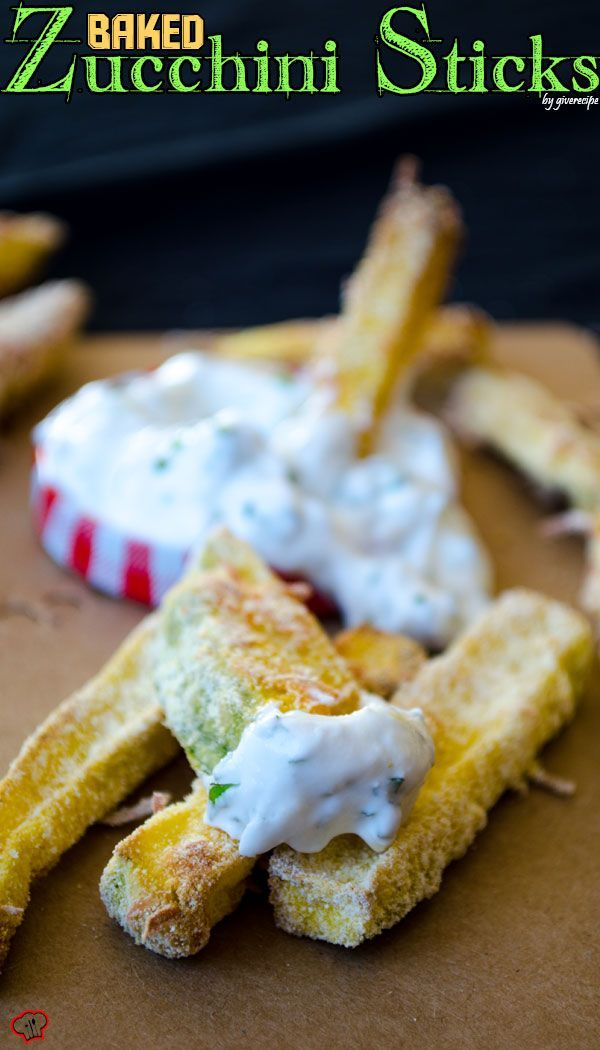 These zucchini sticks are crunchy on the outside and perfectly cooked inside. They are the healthier version of french fries as they are baked in oven. These are made with cornmeal