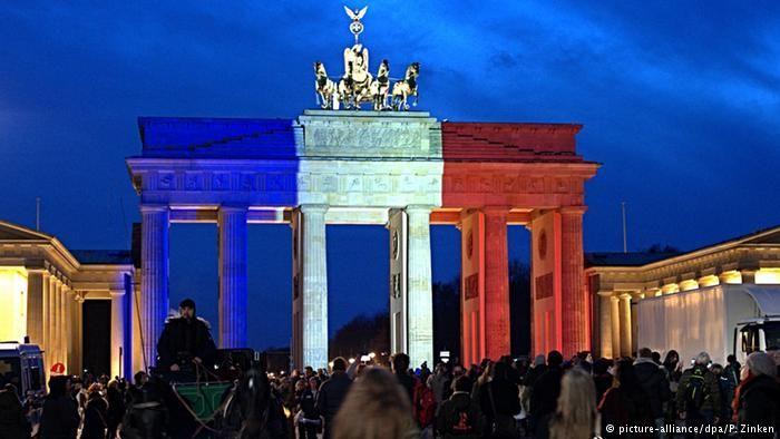 Germany′s flag at half-mast