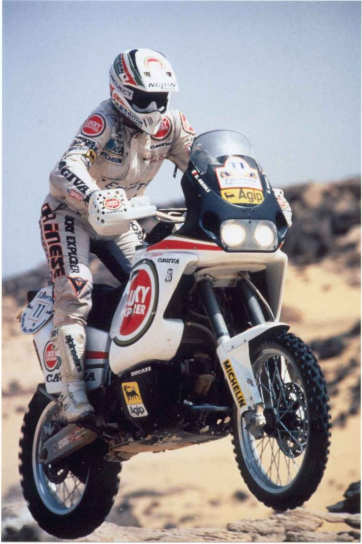 cagiva elefant ,on the pharohs rally