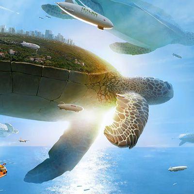 Tartarugas gigantes e universos criados por um russo que definitivamente manda muito bem quando o assunto é o surrealismo!