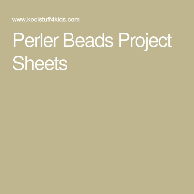 Perler Beads Project Sheets