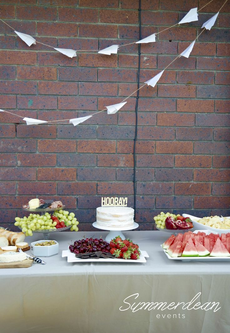 Simple and elegant paper planes party. This set up could be used from birthday to baby shower to bridal shower. www.summerdean.com.au