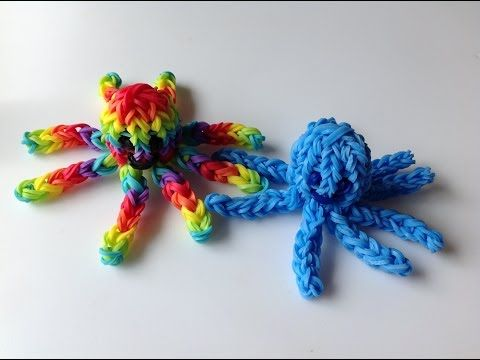 Rainbow Loom Nederlands, 3d-octopus, monstertail - YouTube