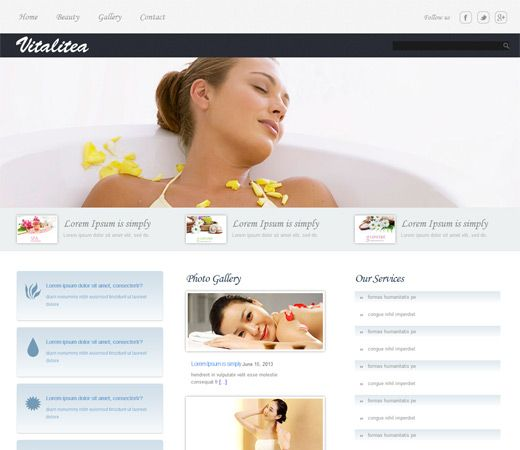 26 best Beauty and Spa Responsive Mobile web Templates images on - fitness templates free