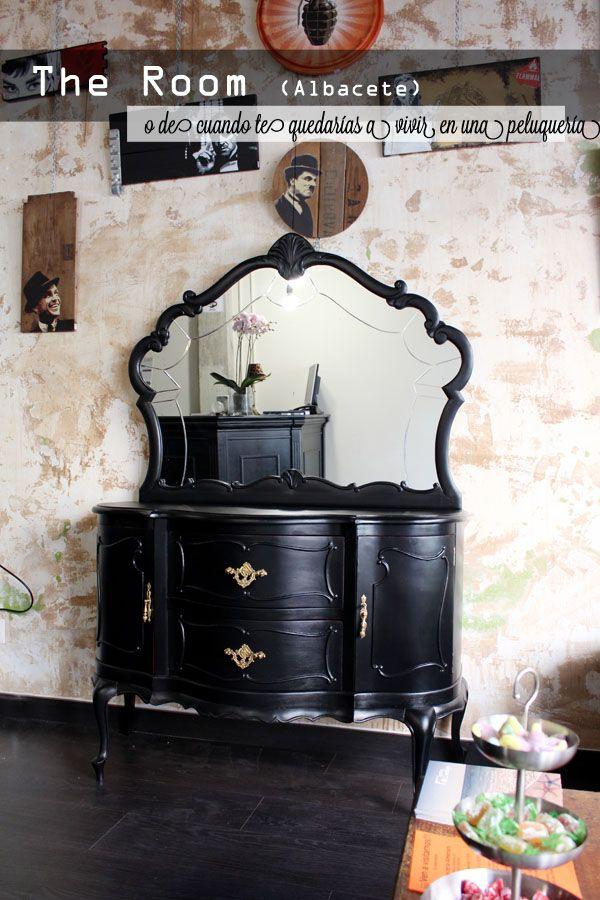 161 best black painted furniture images on pinterest - Ideas para decorar una peluqueria ...