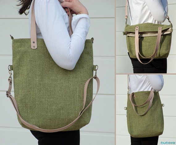 FREE SHIPPINGGreen Handbag Handcrafted Tote Leather by buboxa