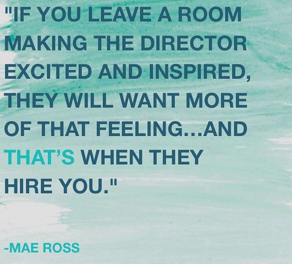 Acting advice, make directors remember you #MaeRoss