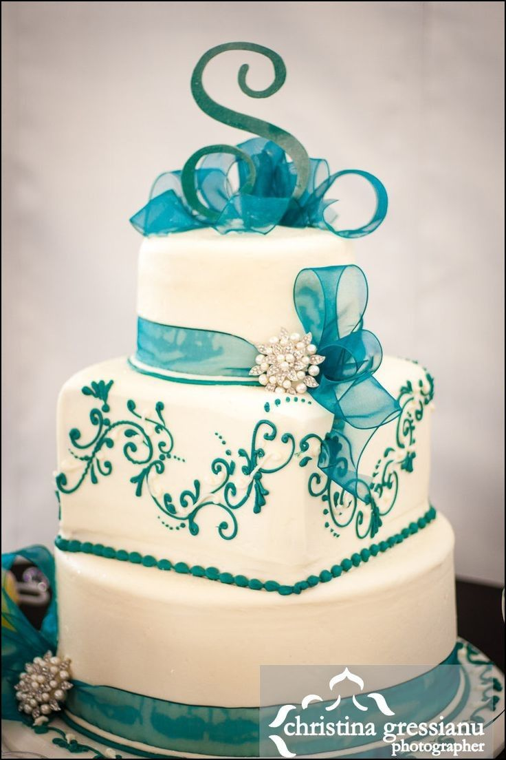 teal wedding cake toppers best 25 teal cake ideas on teal wedding cakes 20789