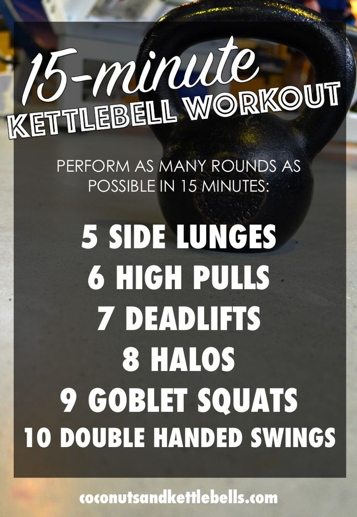 15 Minute Kettlebell Workout Coconut Workout And