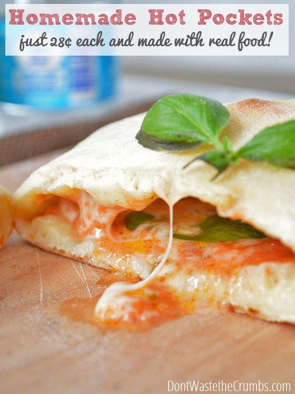 Recipe:  Healthy Homemade Hot Pockets | http://dontwastethecrumbs.com/2014/07/recipe-healthy-homemade-hot-pockets/