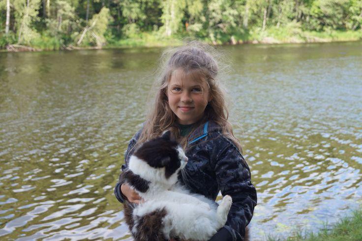 Неожиданно в Карельском лесу появился кот#Калерия #семья #доча #путешествие