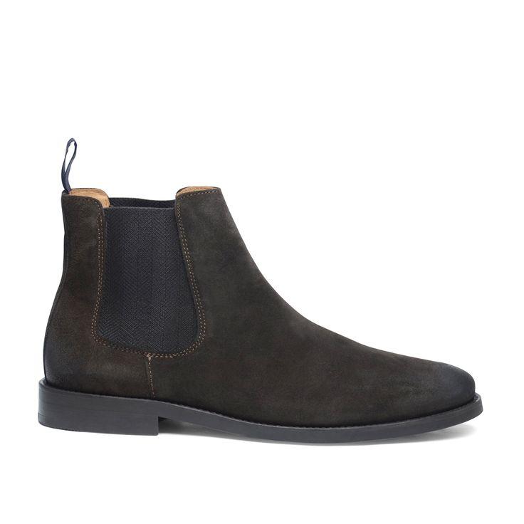 GANT donkerbruine chelsea boots #Chelsea boots #donkerbruin #trends