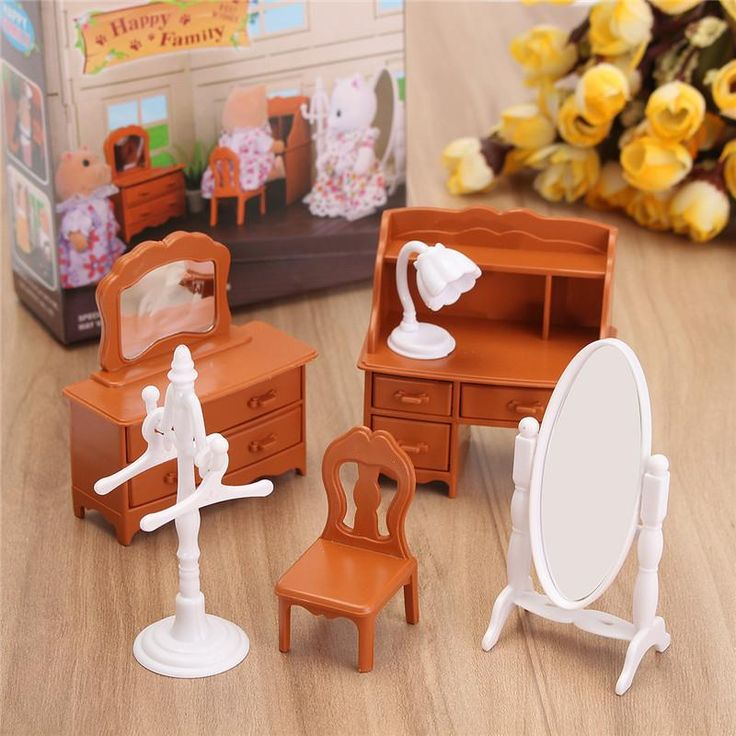 New Vintage Miniature Bedroom Furniture Set