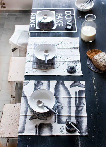 Intérieur scandinave black and White.